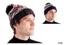 RJM Mens Chunky Bobble Hat